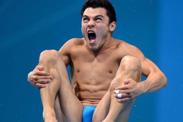 Забавные лица спортсменов