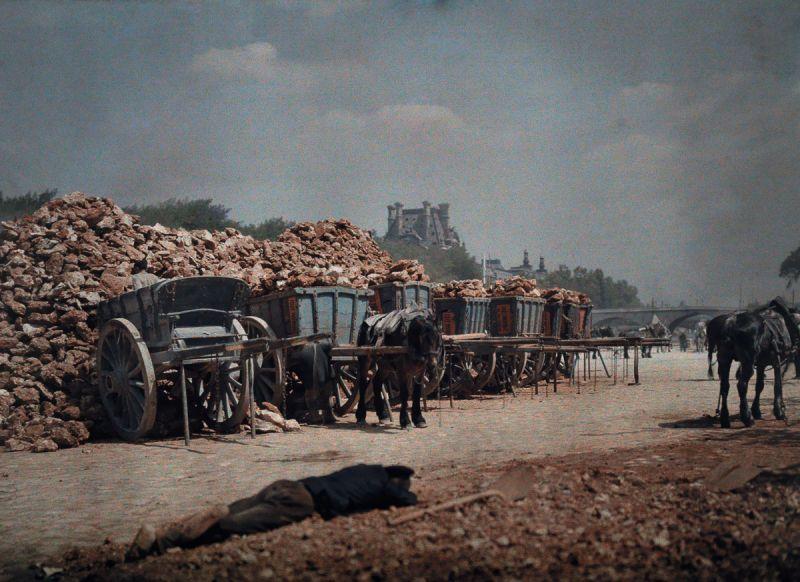 Автохромные фотографии Парижа 1923 года