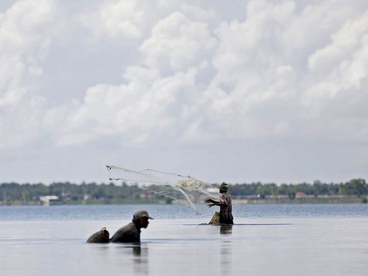 Рыбаки Шри-Ланки