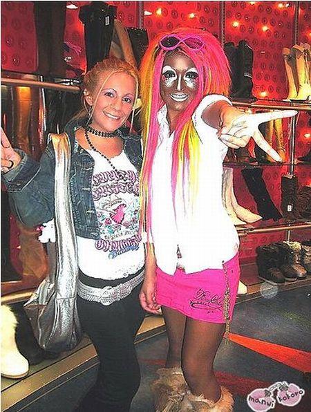 Модные и современные девушки Ganguro