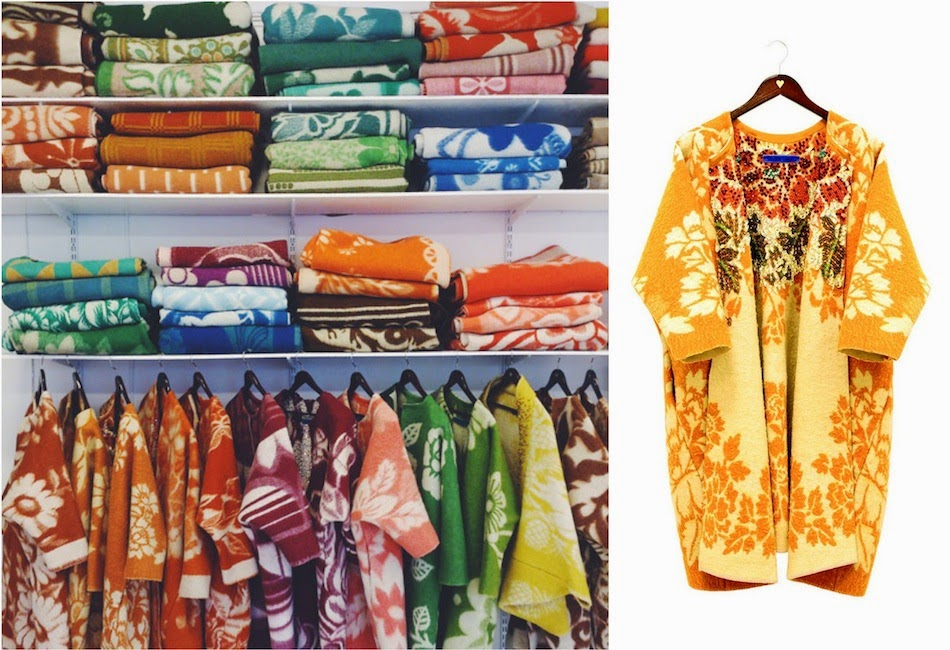 Старое советское одеяло превратилось в модное пальто