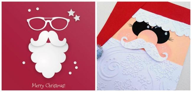 Идеи для новогодних открыток, которые не отнимут много времени