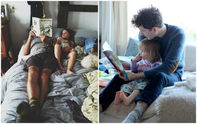 Трогательные снимки пап и их дочек