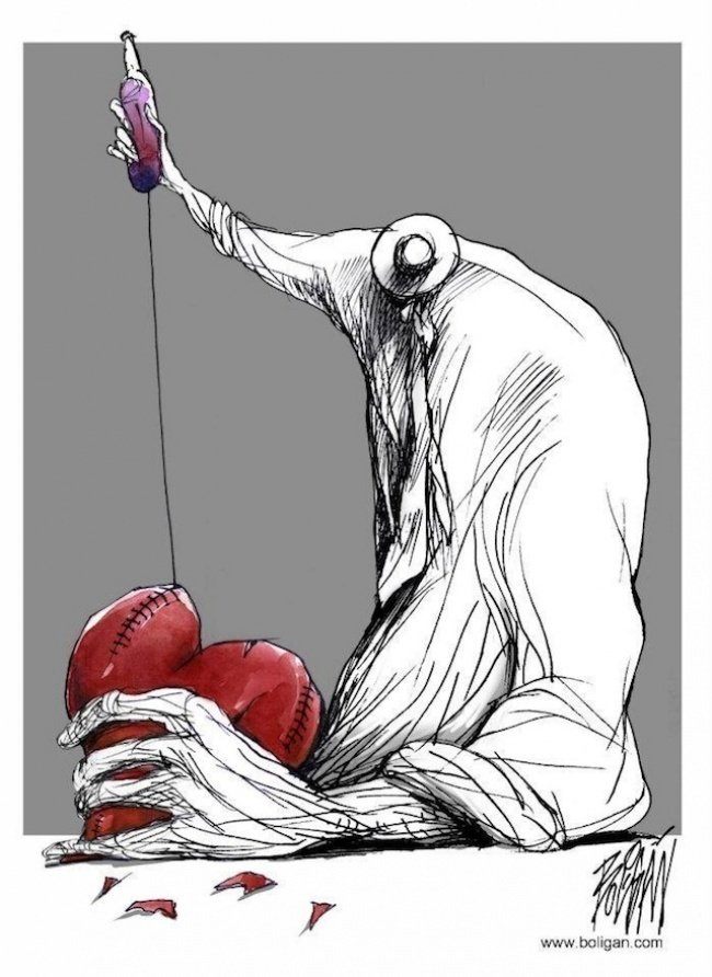 Современная жизнь от художника-карикатуриста Анхеля Болигана Корбо