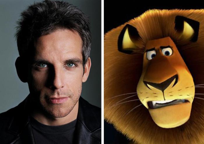 Актеры похожи на своих героев из мультфильмов
