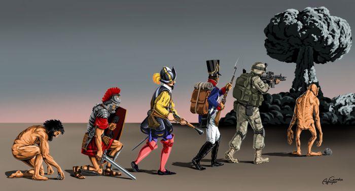 Война и мир - новый проект художника Гюндуза Агаева