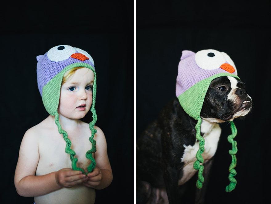 Фотоистория о взрослении девочки и щенка