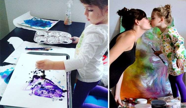 Мама превращает каракули дочери в настоящие картины