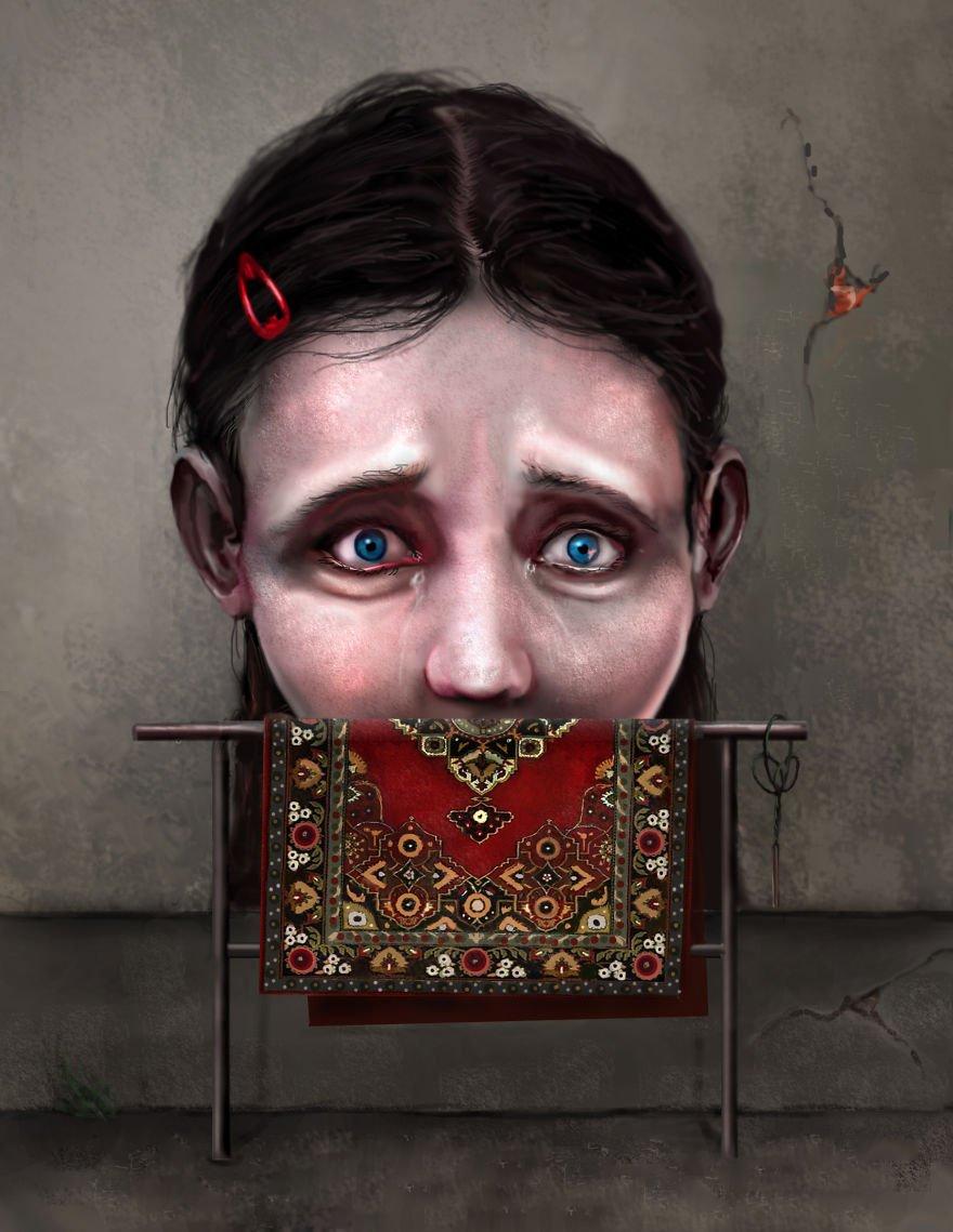 Проблемы современного общества в иллюстрациях Себастьяна Пытки