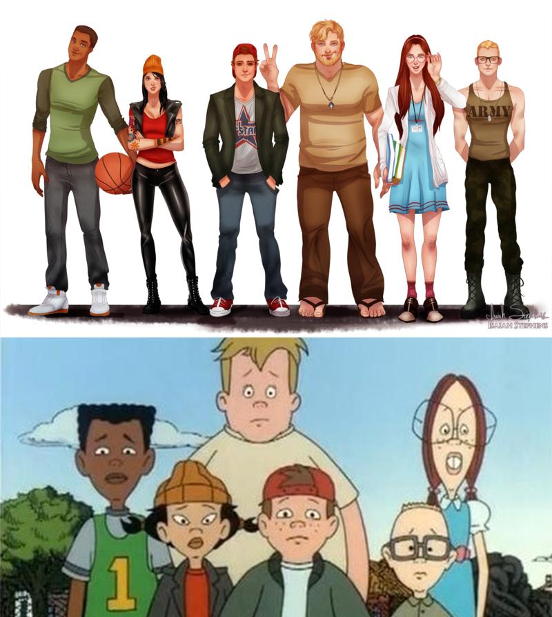 Персонажи мультфильмов на реалистичных рисунках
