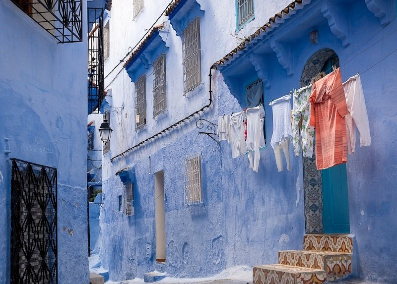 Синий город Шефшауэн в Марокко