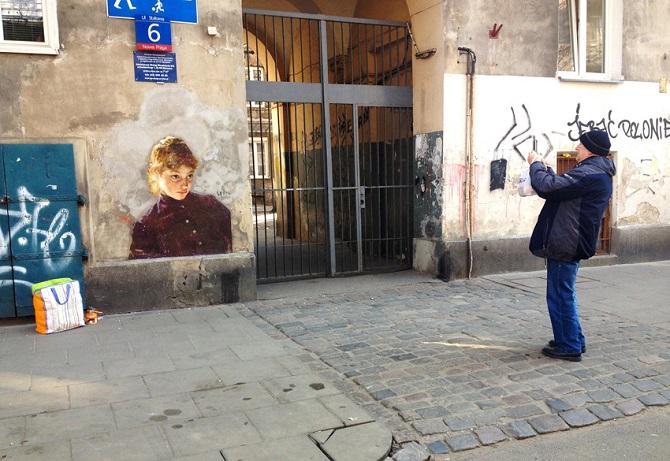 Портреты перенесенные на улицу от Жульена де Касабьянки