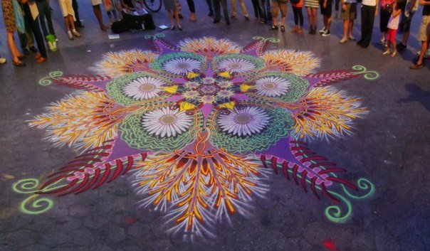 Рисунки выполненные цветным песком