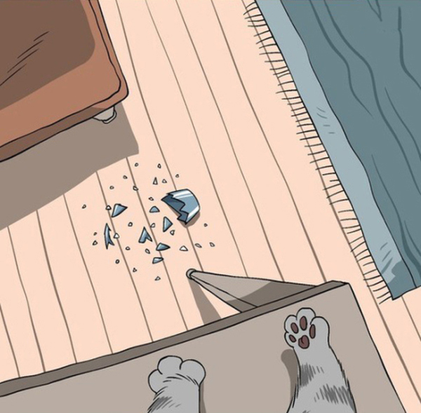 Мир глазами котов в забавных картинках