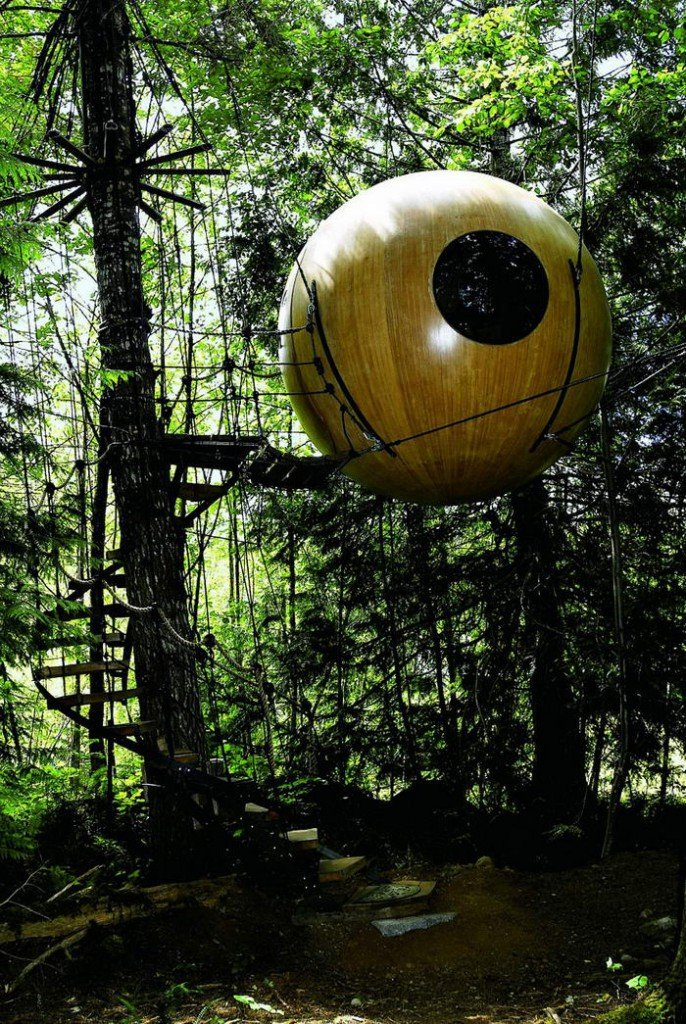 Самые необычные и удивительные дома на деревьях