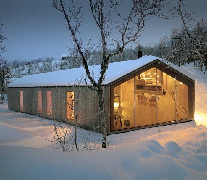 Уютный деревянный дом в норвежском городке Ол