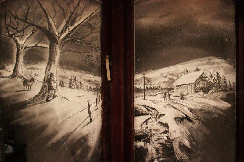 Когда мороз не рисует узоры на окне, за работу берется настоящий профессионал