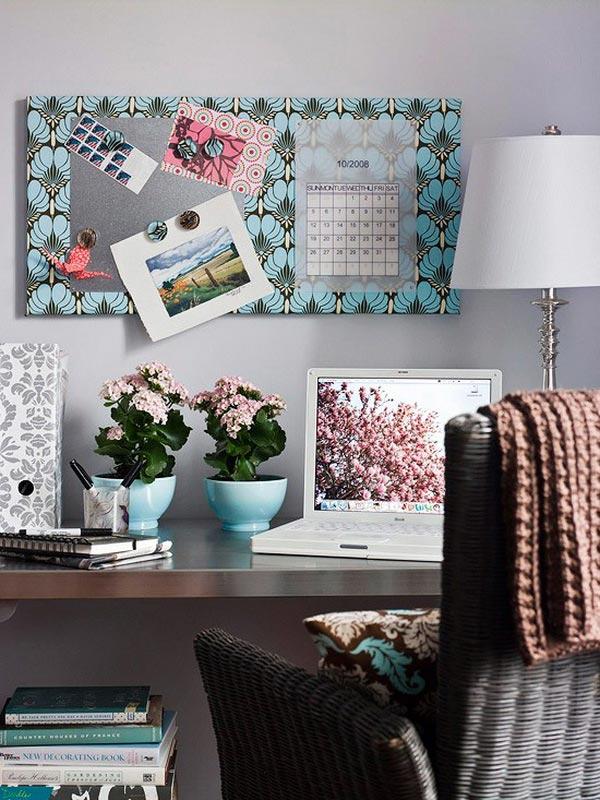 17 ярких идей оформления для женского домашнего офиса