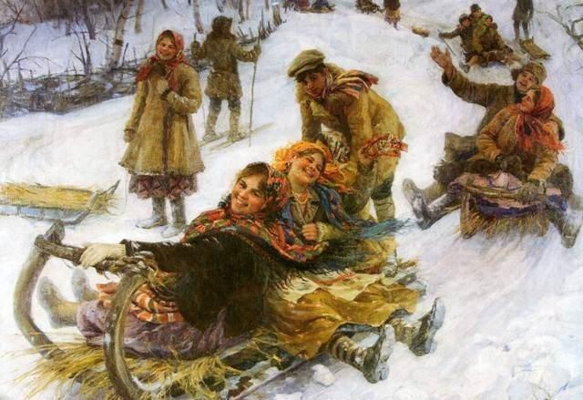 Катание с ледяных гор – традиционная русская забава
