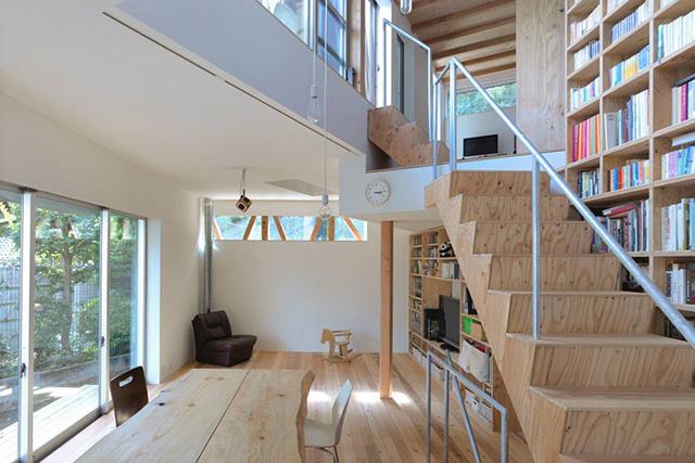 Дом из переработанных материалов в Токио