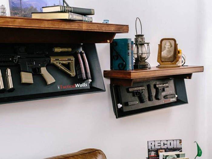 Мебель с тайными шкафами для оружия