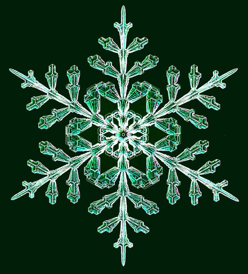 Снежинки, созданные в лаборатории