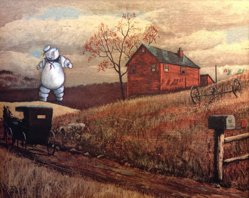 Художник делает крутые вещи из скучных картин