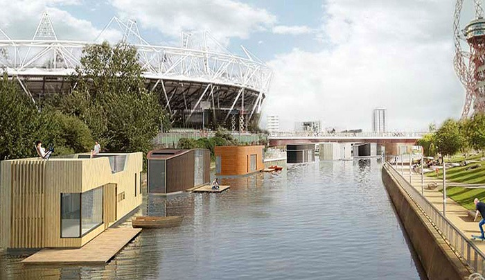 Дома на воде в Лондоне
