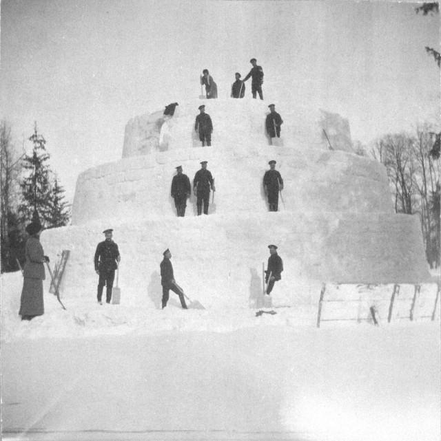 Зимние забавы императорской семьи