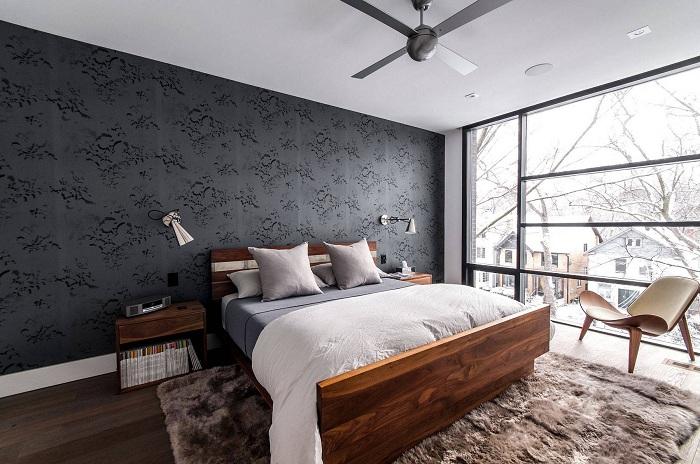 Уютные спальни с зимними видами из окна