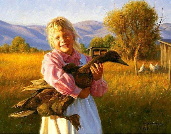 Беззаботное детство на картинах Роберта Дункана