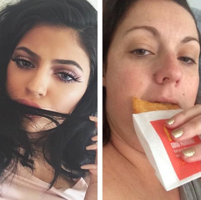 Флешмоб, призывающий пародировать снимки звезд в Instagram
