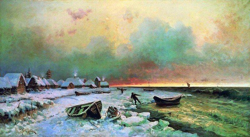 Пейзажи зимней России от Юлия Клевера