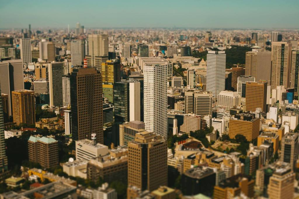 Крупные мегаполисы как игрушечные миниатюры