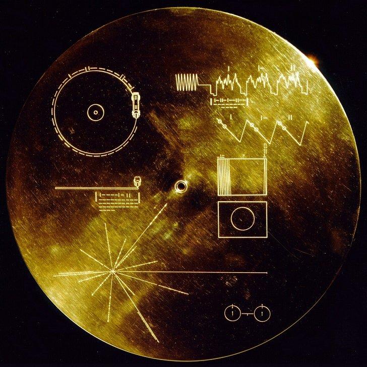 Изображения, путешествующие в космическом пространстве с 1977 года