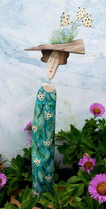 Деревянные человечки с душой от Линн Муир