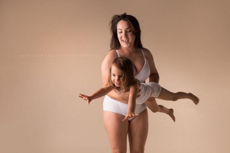 Идеальная красота материнства у женщин, с неидеальными телами
