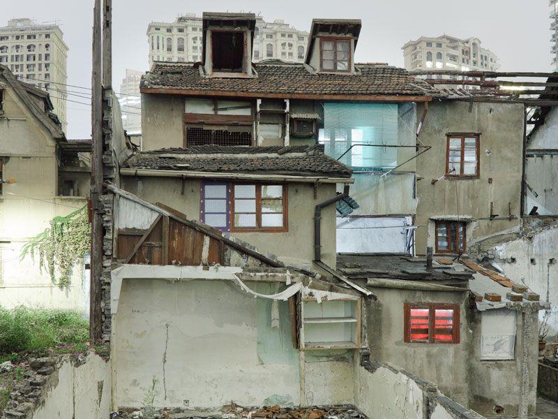 Хибары упрямых китайцев, отказывающихся переселяться в квартиры