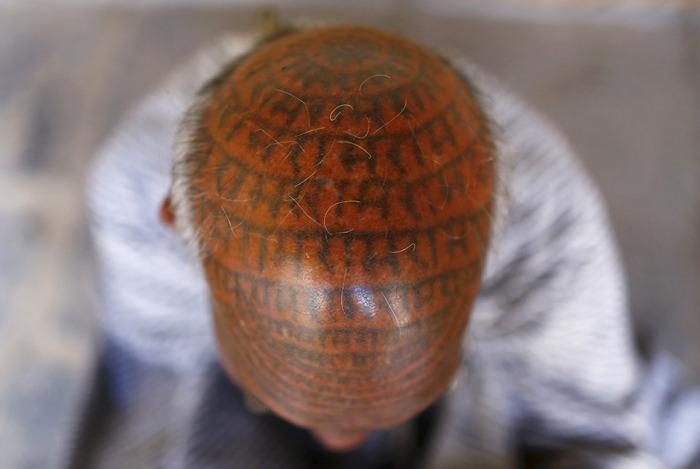 Члены индийской секты Рамнами самадж