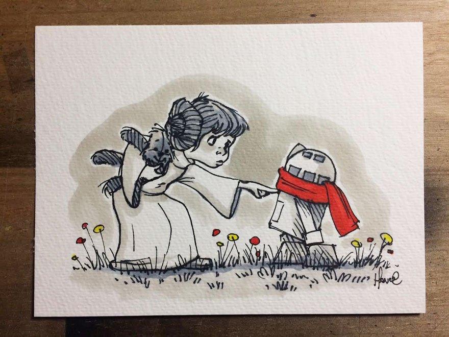 Когда художнику нравятся Звёздные войны и Винни-Пух