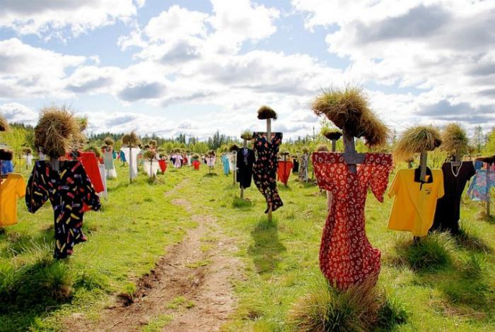Охранники сада и поля - оригинальные огородные пугала