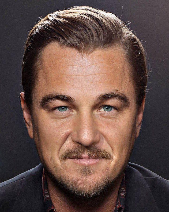 Виртуальные портреты звезд с чертами лиц двух разных знаменитостей