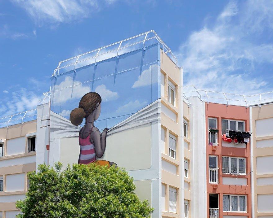 Уличные рисунки от парижского художника Жульена Малланда