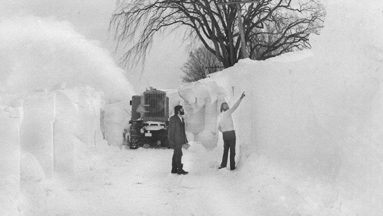 Самые сильные снегопады