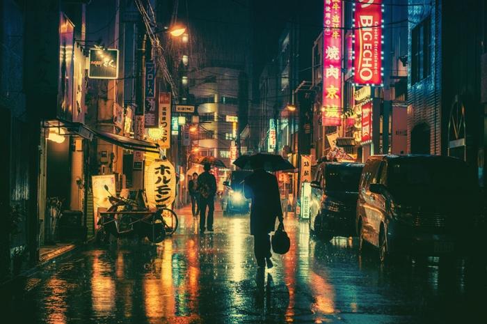 Магическая атмосфера улиц ночного Токио в фотографиях Масаси Вакуи