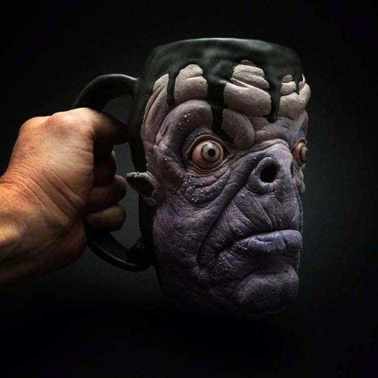 Реалистичные зомби-кружки ручной работы
