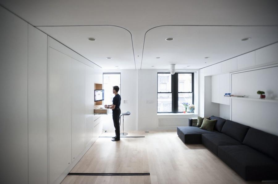 Минималистичная квартира-трансформер