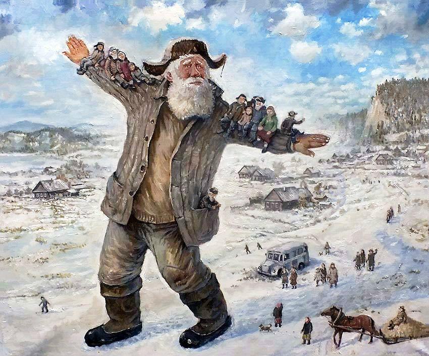 Зимой особенно хочется летать: картины Леонида Баранова