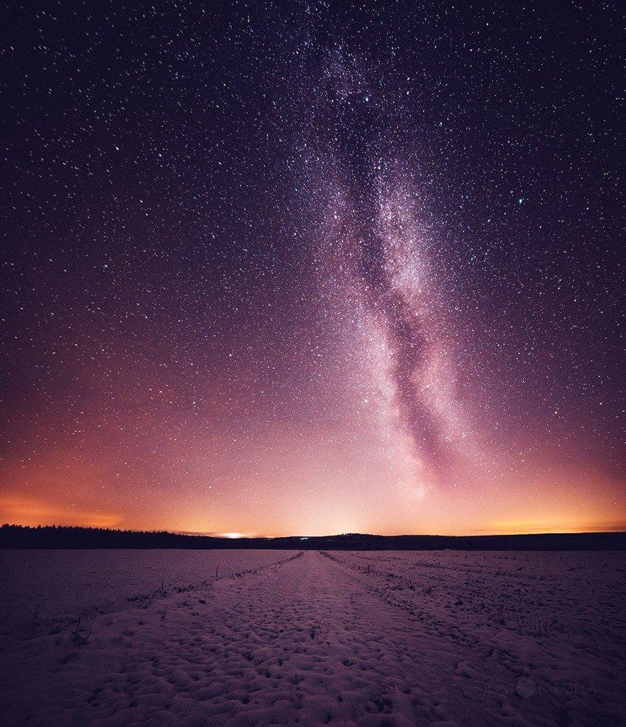 Красота ночного неба Финляндии от Джони Ньемела