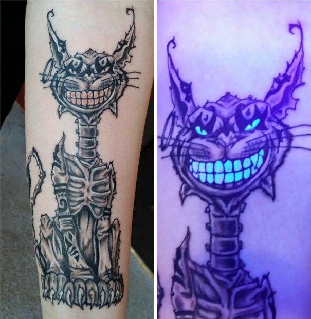 Татуировки, которые светятся в ультрафиолете